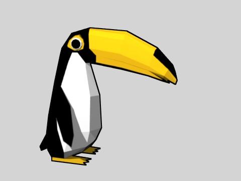 架空の生物 オオペンギンっす (Toonのれんしゅう)