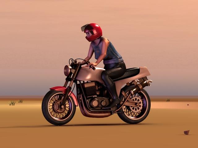 古臭いバイク