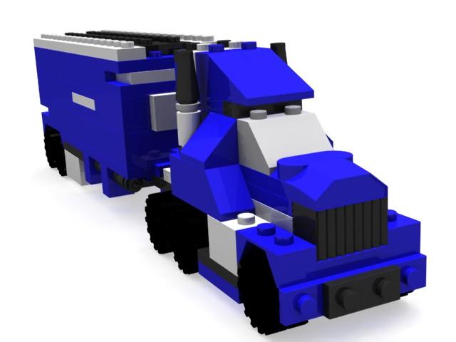 LEGOトラックをYafRayで