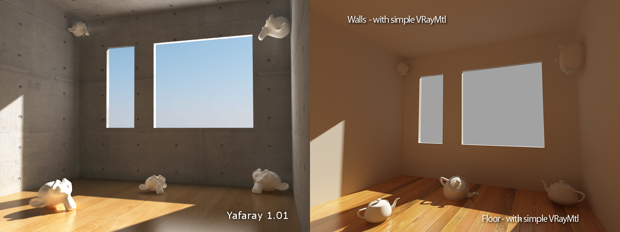 Yafaray VS V-ray