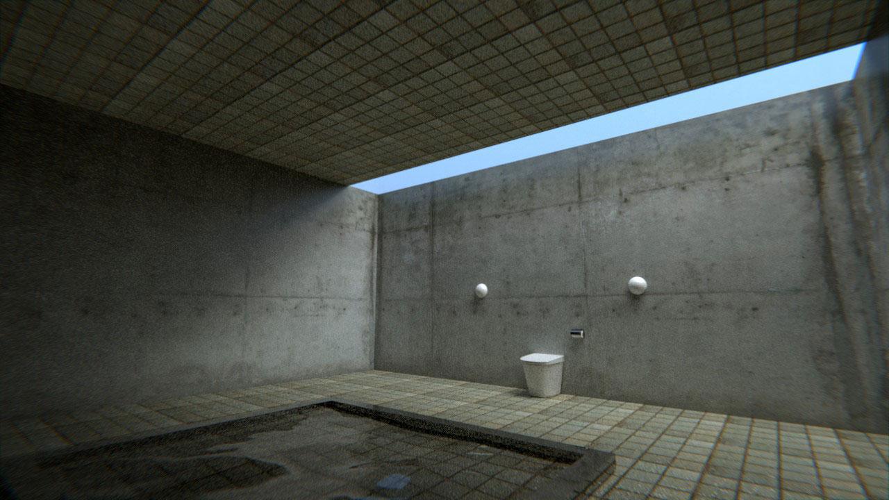 広い地下トイレ - blender.jp