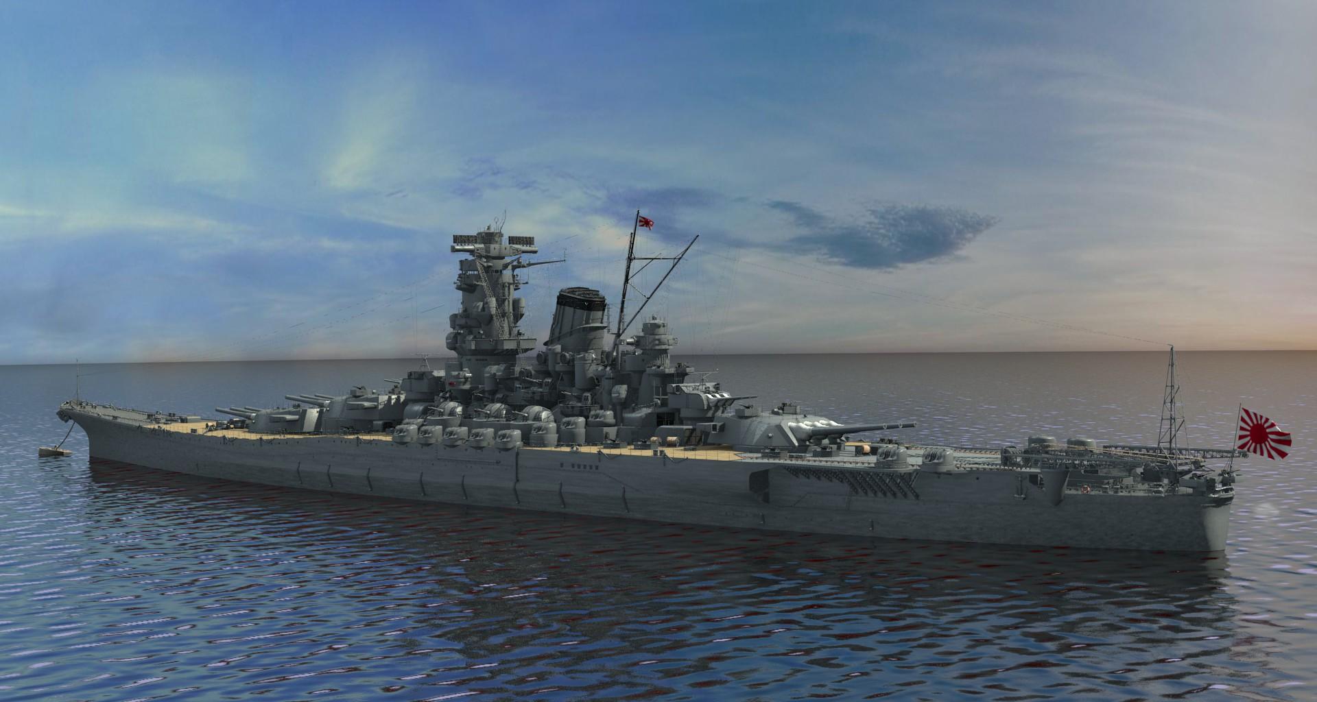 CG再現された戦艦大和