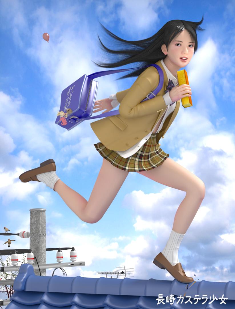 長崎カステラ少女