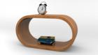 棚と本と目覚まし時計